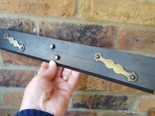 """Vintage Tools - A Good Quality Brass & Ebony Parallel Rule - 15"""""""