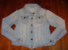 GIRLS 16 LADIES 8 10 NEXT UK soft denim lightweight faded JEANS JACKET