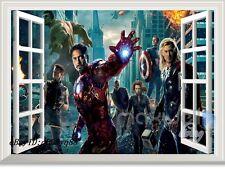 Iron man Avengers Super hero 3D Window  Wall Decals Removable Sticker Kids Decor