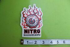 New listing Nitro Custom Wear Red Flaming Eyeball Pop Art Racing Skate Surfing Sticker