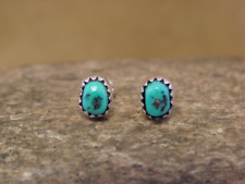 Native American Indian Jewelry Sterling Silver Turquoise Dot Post Earrings!