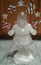 "Large 21"" Holiday Ice Sculpture Noel Santa Centerpiece Lights Up Heritage Mint"