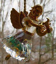 Swarovski Crystal 1998 Christmas Memories Angel With Harp Ornament Mint in Box