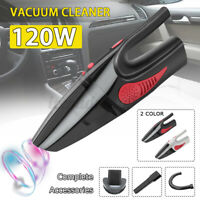 Cordless Wet/Dry 120W Car Vacuum Cleaner Hand Held Powerful Portable Home Pet