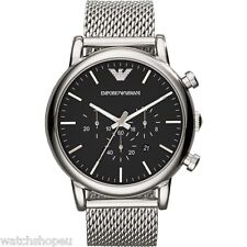 NEW EMPORIO ARMANI AR1808 MENS LARGE MESH LUIGI WATCH - 2 YEARS WARRANTY