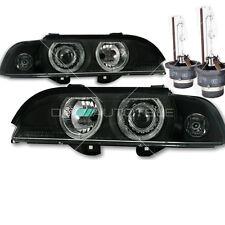 BMW E39 Angel Eyes Xenon Scheinwerfer Set Schwarz D2S + 2x Philips Brenner 95-00