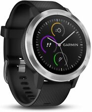 NEW GARMIN VIVOACTIVE 3 GPS SMARTWATCH / ACTIVITY TRACKER --- BLACK & STAINLESS