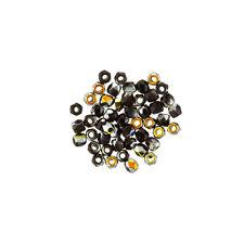 Fire Polished True2™ 2mm Czech Glass Seed Beads Jet Marea (PK50) (L67/2)