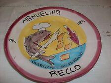 Piatto buon ricordo  RISTORANTE MANUELINA RECCO 1984