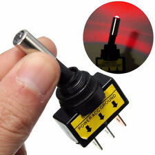 12V 20A Car Auto Red LED Light Toggle Rocker Switch 3Pin SPST ON/OFF Control