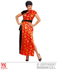 Ladies China Girl Costume Chinese Oriental Far East Fancy Dress Outfit