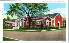 DALTON, Georgia  GA    CITY PARK PRIMARY SCHOOL   1943  Linen Postcard
