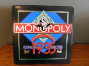 1935 Commemorative Edition Monopoly Game In Tin Complete