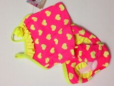New infant girls swim suit Pink and yellow hearts  size 3/6 months