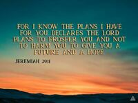 Jeremiah 29:11 Poster A Future and A Hope Bible Verse Quote Wall Art (24x18)