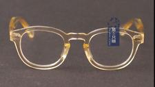 Vintage SOILD italy Acetate johnny depp eyeglases yellow glasses mens clear lens
