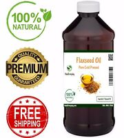 Flaxseed Oil - PREMIUM QUALITY 100% Pure COLD PRESSED Organic Flax Seed Linseed