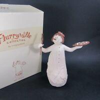 "Flurryville Aunt Arctica Artist Christmas Wood Carved Figurine 8"" Snowman"