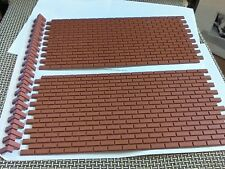 g scale (lgb) building Bricks set 2 Plastic sheets w/corners Paintable layout