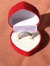 18ct Yellow Gold Pave Set Diamond Dress Ring 59x Diamond Wedding Dome Band Ring