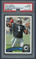 2011 Topps #200 Cam Newton Rookie RC (Stands) Panthers - Patriots PSA 10 GEM MT