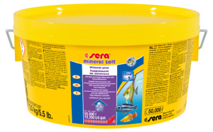 Sera mineral salt 2,5 kg sal acuario agua dulce
