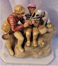 "Gorham Figurine Norman Rockwell Summer - Trout Dinnner 8"" Top Of Pole Mint"