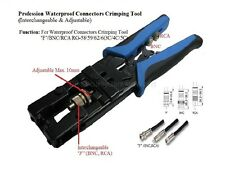 Coaxial Cable Compression Crimp Tool (F, BNC, RCA)