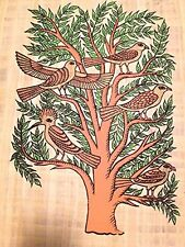 Ancient Egyptian Tree of Life the sacred,mythical Papyrus handmade Art painting.