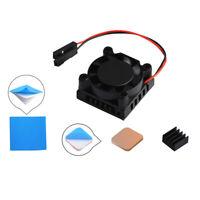 For Raspberry Pi 3B/3B+ Square 1/2 Dual Fan Single Fast Cooling Fan w/ Heatsink