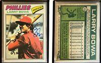 Larry Bowa Signed 1977 Topps #310 Card Philadelphia Phillies Auto Autograph