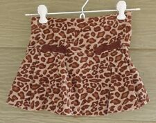 Gymboree Teachers Pet Girls 4 Brown Tan Leopard Spotty Bow SKORT Velveteen VTG