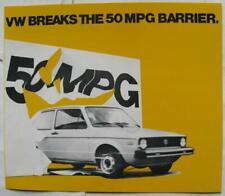 VOLKSWAGEN Rabbit Diesel Car Sales Brochure 1977 #33-17-76030 USA Print
