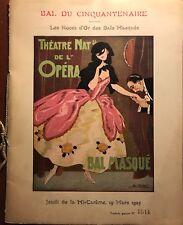 """FONTAN LÉO THÉATRE NATIONAL DE L'OPÉRA """"LES NOCES D'OR DES BALS MASQUÉS 1925"""