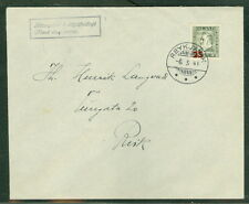 ICELAND 1941, 236 (217) 25a on 3a Jochumsson, single FDC local usage, VF