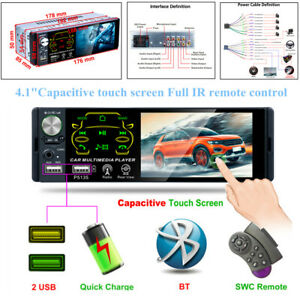 4.1 inch Touch Screen MP5 Player Universal Car Single Audio BT Hand-free USB/TF
