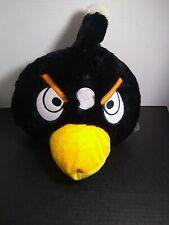 "Giant Jumbo XL Huge Original Big Black Angry Birds Stuffed Plush 15""x 13"" RARE!!"