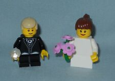 NEW LEGO WEDDING BRUNETTE FLOWER GIRL AND LT TAN HAIR RING BEARER MINIFIGURES
