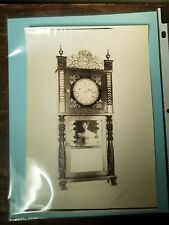 Antique Munger & Benedict Mantel Clock Salesman Sample Photograph