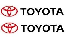 TOYOTA Logo Graphic Vinyl Decals ONE PAIR Corolla Camry Tundra Free Shipping