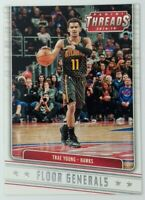 2018-19 Panini Threads Floor Generals Trae Young Rookie RC #4, Hawks