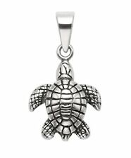 Sterling Silver Sea Turtle Pendant w/Bail - SPD260-B