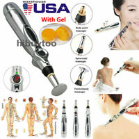 Electronic Acupuncture Meridian Pen with Gel Body Massager Pain Relief Therapy