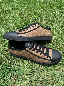 Mens Coach Canvas Shoes FG4412 Size 10.5