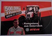 Werbe-Aufkleber STEYR 500.000 Traktor Werk St. Valentin Österreich Puch