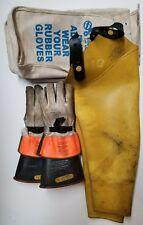 Salisbury Lineman high voltage glove and sleeves, Gloves Size 9-1/2, Sleeves Reg