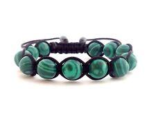 MEN'S MALACHITE Handcrafted 10mm Beaded Adjustable Shamballa Jewelry Bracelet