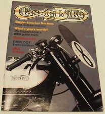 Classic Bike 4/86 Matchless G3, BSA G14, cammy Norton, Gregory Jawa, Indian Velo