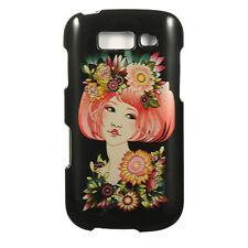 For T-Mobile Samsung Galaxy S BLAZE 4G Hard Case Phone Cover Black Flower Girl