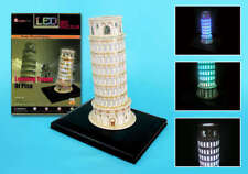 Detailed LED Lighted Architectural Model Leaning Tower of Pisa
